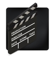 movie clapper board isometric vector image