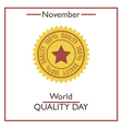 Quality Day vector image