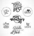 Valentines Day Typography Design Elements vector image