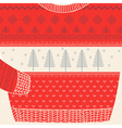 Christmas Ornamental Sweater Card vector image vector image