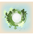 abstract green blots vector image vector image