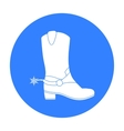 Cowboy s boots icon in black style isolated on vector image