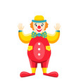 cartoon clown isolated on white background party vector image