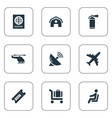 set of simple transportation vector image vector image
