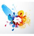 abstract splash wallpaper vector image vector image