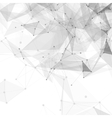 Abstract low poly white bright technology vector image vector image