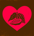 Love chocolate vintage vector image vector image