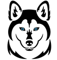 Husky dog tattoo vector image