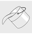 Black line bucket vector image