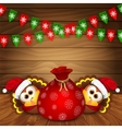 Christmas card with funny turkeys vector image