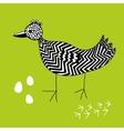 Creative ink drawn bird vector image