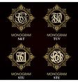 Vintage Monograms - 4 sets - monograms series vector image vector image
