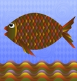 big colorful fish vector image