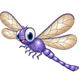 Cartoon funny dragonfly isolated vector image