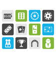 Flat gambling and casino Icons vector image