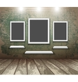 frame in an empty room vector image