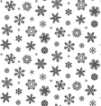 isolated snowflakes - stock vector image