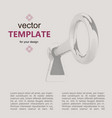 key for web banner web vector image