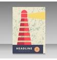Lighthouse design for brochure vector image