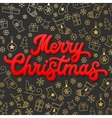 Merry Christmas Red 3d Xmas lettering inscription vector image