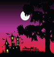 sweet and beauty castle with bats part three vector image
