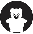 Teddy Bear Toy - icon isolated vector image