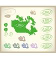 Bio Map CA Canada vector image