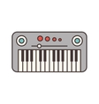 synthesizer electric isolated icon vector image