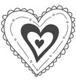 hand drawn heart valentines day vector image