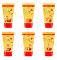 baby cream tube with kids design vector image