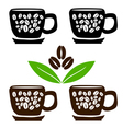 4 cup of coffee vector image