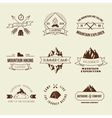 Camping labels set vector image