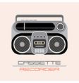 cassette recorder vector image