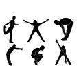 sport silhouette set vector image