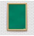 Green school board brick wall vector image