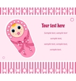 baby girl card 2 vector image
