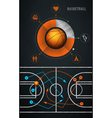 infographics element with sports basketball ball vector image vector image