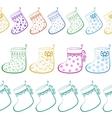 Christmas Stockings Seamless vector image
