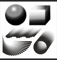 abstract geometric figures black and white vector image