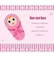 baby girl card 2 vector image