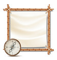 bamboo frame with compass tropical summer vector image