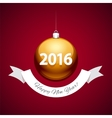 Golden Christmas Balls 2016 vector image