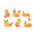 kitty cat - modern set of flat vector image