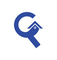 letter c roof building construction logo vector image