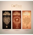 Set of vintage decorative coffee labels vector image