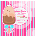Tasty ice cream background with text space vector image