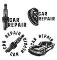 vintage car repair emblems vector image