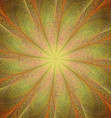 Yellow and orange twisted fractal art background vector image