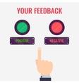 Feedback evaluation concept vector image
