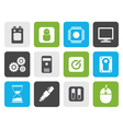 Flat Computer and mobile phone elements icons vector image vector image